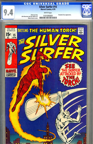 Silver Surfer #15   CGC graded 9.4 - SOLD