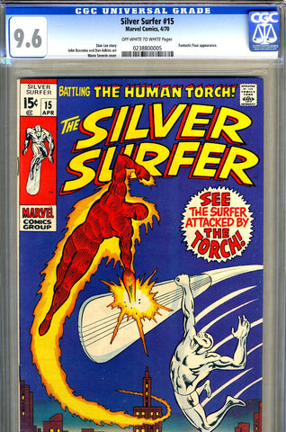 Silver Surfer #15   CGC graded 9.6  Torch crossover