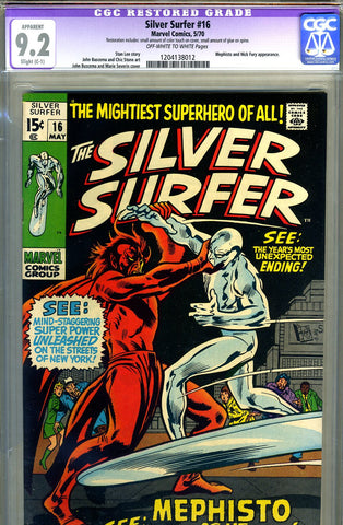 Silver Surfer #16  CGC graded 9.2 - SOLD!