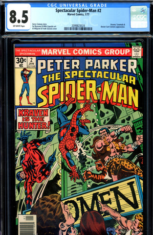 Spectacular Spider-Man #02 CGC graded 8.5 - Kraven - SOLD!