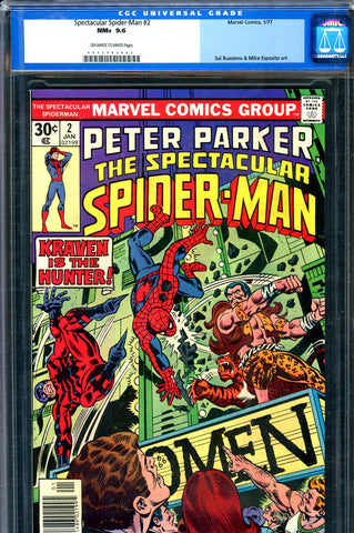 Spectacular Spider-Man #02 CGC graded 9.6 - Kraven SOLD!