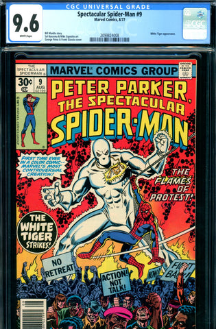 Spectacular Spider-Man #09 CGC graded 9.6 - White Tiger SOLD!