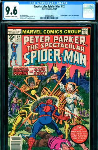 Spectacular Spider-Man #12 CGC graded 9.6 - Brother Power - SOLD!