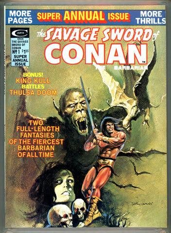 Savage Sword of Conan Annual #1 CGC graded 9.8 SOLD!