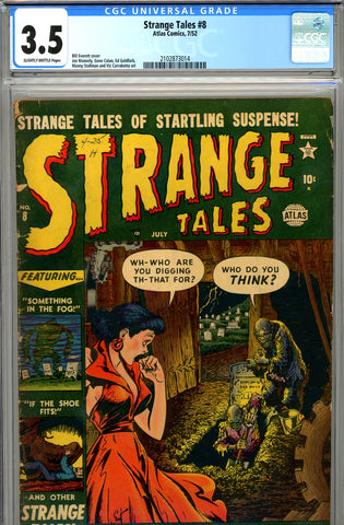 Strange Tales #008 CGC graded 3.5 - Bill Everett cover