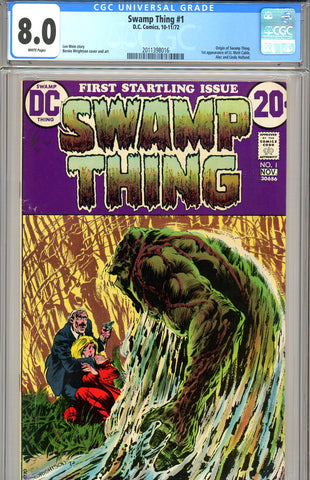 Swamp Thing #01 CGC graded 8.0 SOLD!