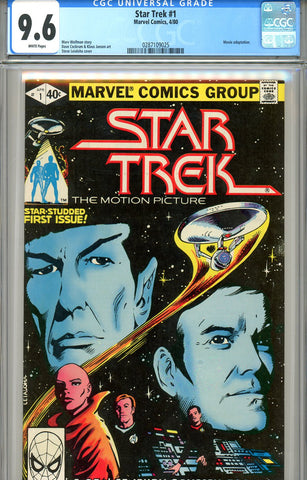Star Trek #1   CGC graded 9.6 (1980) - white pages SOLD!