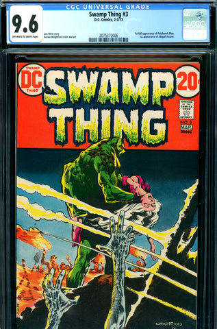 Swamp Thing #03 CGC graded 9.6 - first Patchwork Man SOLD!