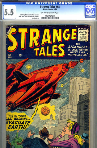 Strange Tales #068   CGC graded 5.5 - SOLD