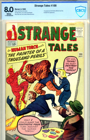 Strange Tales #108 CBCS graded 8.0 white pages
