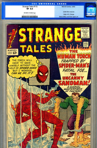 Strange Tales #115   CGC graded 8.0 - SOLD