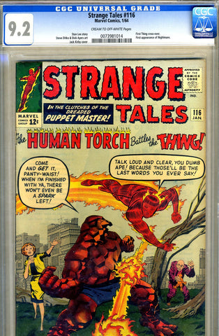 Strange Tales #116   CGC graded 9.2 - SOLD