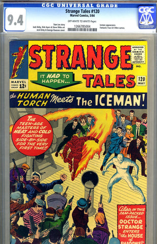 Strange Tales #120   CGC graded 9.4 - first Iceman x-over SOLD!
