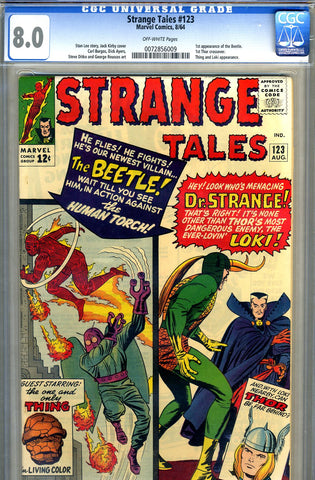 Strange Tales #123   CGC graded 8.0 - SOLD