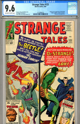 Strange Tales #123 CGC graded 9.6  first Thor x-over, first Beetle