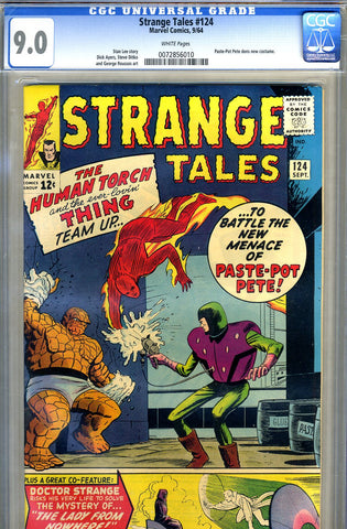 Strange Tales #124   CGC graded 9.0 - SOLD!
