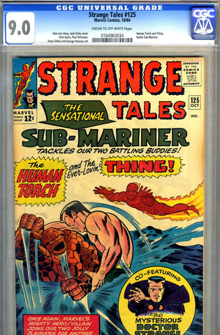 Strange Tales #125   CGC graded 9.0 - SOLD