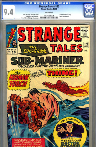Strange Tales #125   CGC graded 9.4 - SOLD