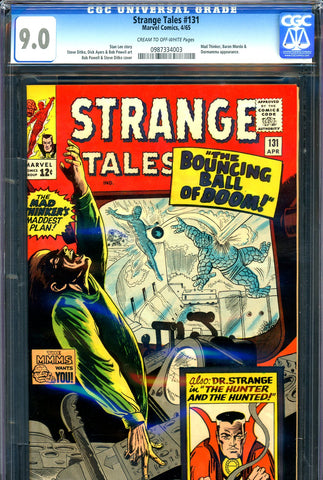 Strange Tales #131 CGC 9.0 - Mad Thinker cover/story