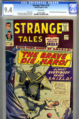 Strange Tales #139  CGC graded 9.4 - white pages - SOLD