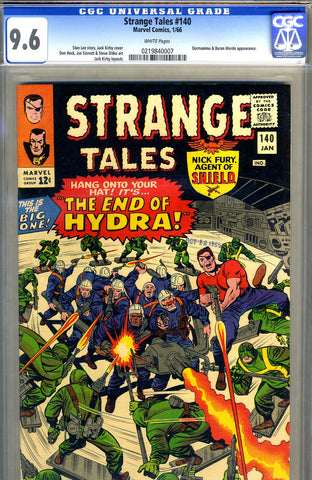 Strange Tales #140   CGC graded 9.6 - white pages - SOLD!