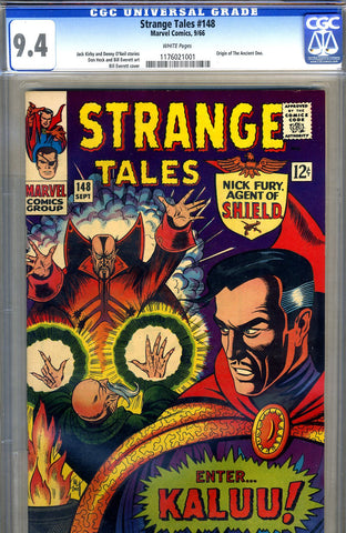 Strange Tales #148   CGC graded 9.4 - white pages - SOLD!