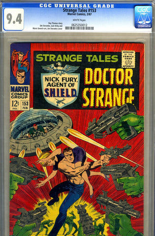 Strange Tales #153   CGC graded 9.4 - SOLD