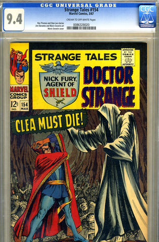 Strange Tales #154   CGC graded 9.4 - SOLD