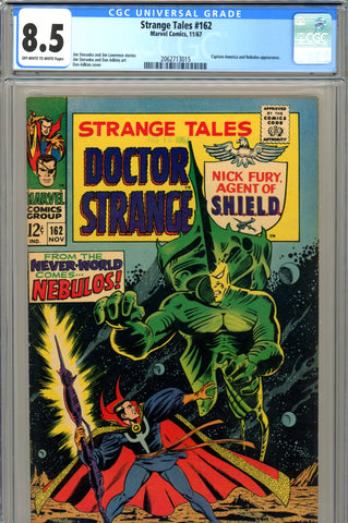 Strange Tales #162 CGC graded 8.5 Captain America appearance