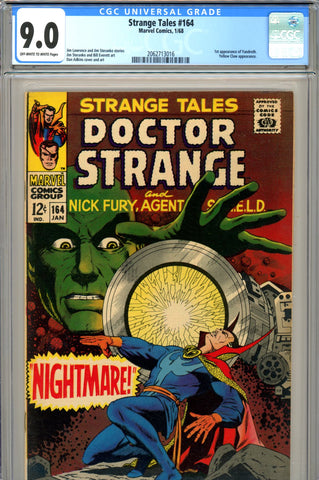 Strange Tales #164 CGC graded 9.0 first Yandroth SOLD!