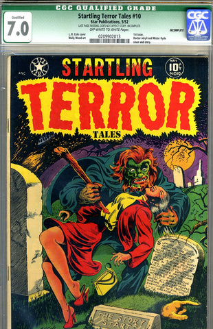 Startling Terror Tales #10   CGC graded 7.0 - SOLD!