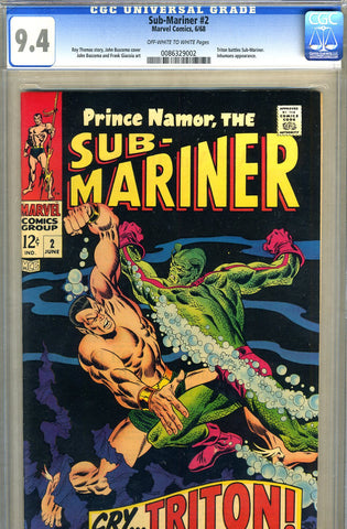 Sub-Mariner #02   CGC graded 9.4 - SOLD
