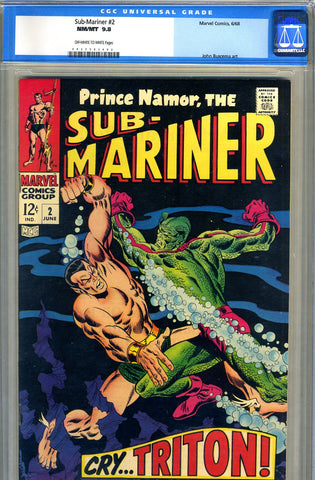 Sub-Mariner #02   CGC graded 9.8 - HIGHEST GRADED - SOLD!