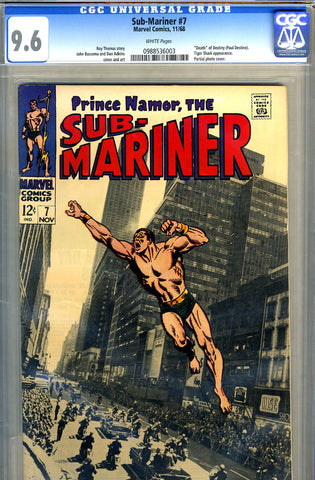 Sub-Mariner #07   CGC graded 9.6 - white pages - SOLD!
