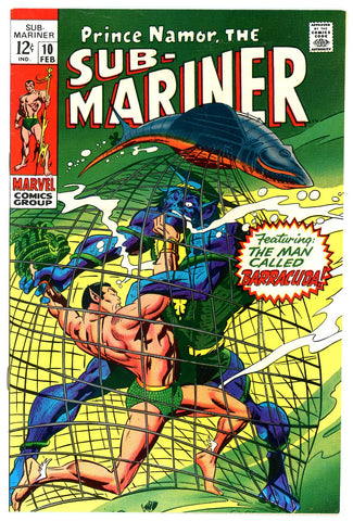 Sub- Mariner #10  VF/NEAR MINT  1969