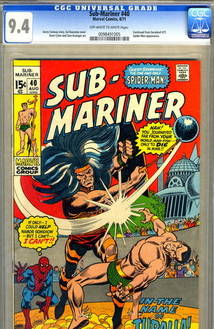 Sub-Mariner #40   CGC graded 9.4 - SOLD!