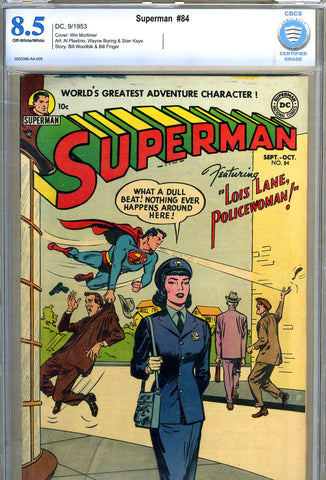 Superman #84  CBCS  graded 8.5  - HIGHEST GRADED - SOLD!