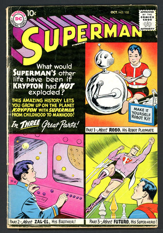 Superman #132  VERY GOOD+   1959