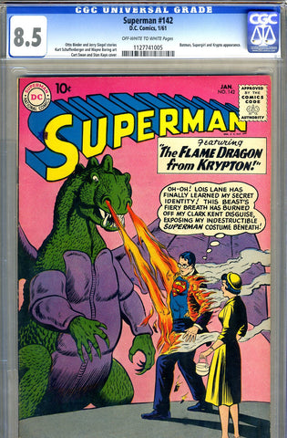Superman #142   CGC graded 8.5 - SOLD