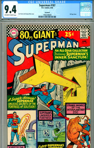 Superman #187 CGC graded 9.4 Giant
