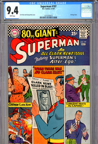 Superman #197 CGC graded 9.4 - white pages - 80 page Giant