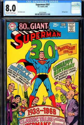 Superman #207 CGC graded 8.0 - Giant - 80 pages