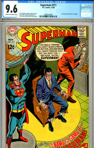 Superman #211 CGC graded 9.6
