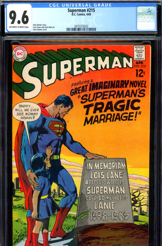 Superman #215 CGC graded 9.6 - Neal Adams cover - SOLD!