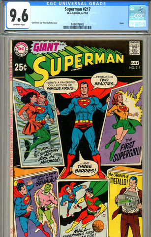 Superman #217 CGC graded 9.6 Giant