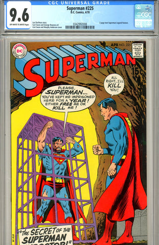 Superman #225 CGC graded 9.6