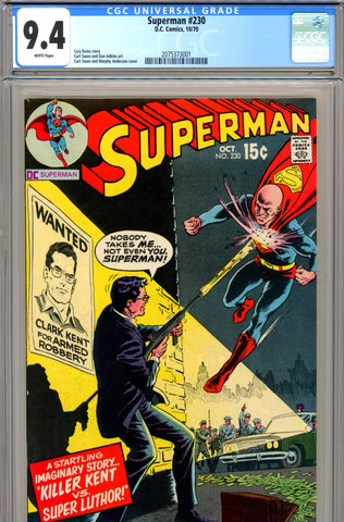 Superman #230 CGC graded 9.4 - white pages SOLD!