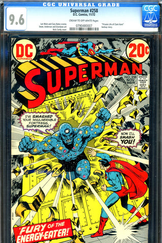 Superman #258 CGC graded 9.6 - Nick Cardy cover