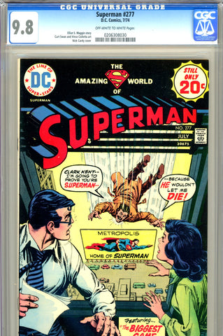 Superman #277 CGC graded 9.8 - HIGHEST GRADED - SOLD!