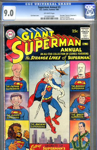Superman Annual #3   CGC graded 9.0 - SOLD